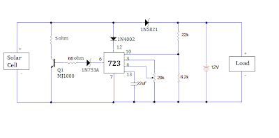 Solar Battery Charger Circuit With Over Charge Protection