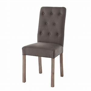 Chaise But Grise : chaise capitonnee grise ~ Teatrodelosmanantiales.com Idées de Décoration