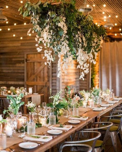amazing hanging greenery floral wedding decorations