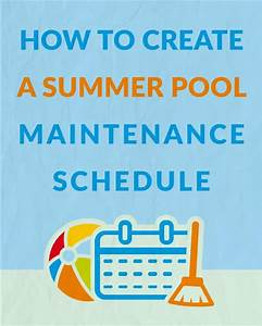 How To Create A Pool Maintenance Schedule