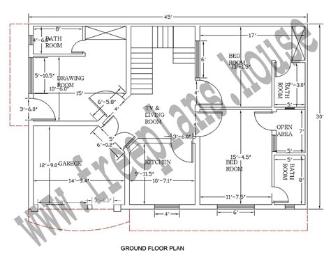 feet  square meter house plan plans
