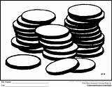 Coloring Coins Coin Clipart Mario Printable Bag Clip Ginormasource Peices Kindergarten Skills Popular Library sketch template