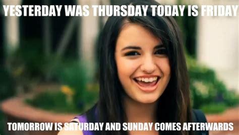 Rebecca Black Friday Meme - rebecca black friday by x tenlovesanime on deviantart