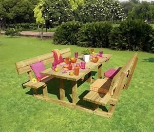 Table Et Banc En Bois : table bois exterieur avec banc menuiserie ~ Melissatoandfro.com Idées de Décoration