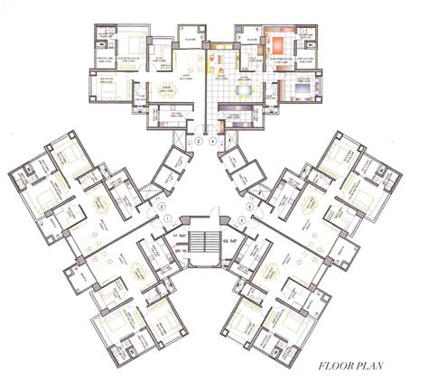apartment layout design high rise residential floor plan search