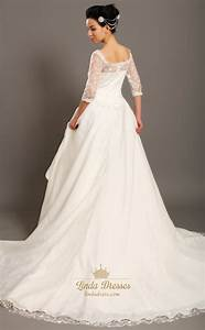 lace top and tulle skirt wedding dress with sleeves plus With off the shoulder wedding dress topper