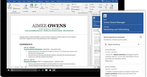 Resume Help Microsoft Word by Microsoft And Linkedin Resume Assistant May Help You Land