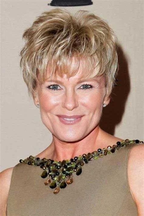 Hairstyles For 60 With Square Faces by 20 Best Collection Of Pixie Haircuts For 60
