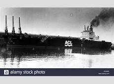 The Atlantic Conveyor, a British merchant navy ship, which