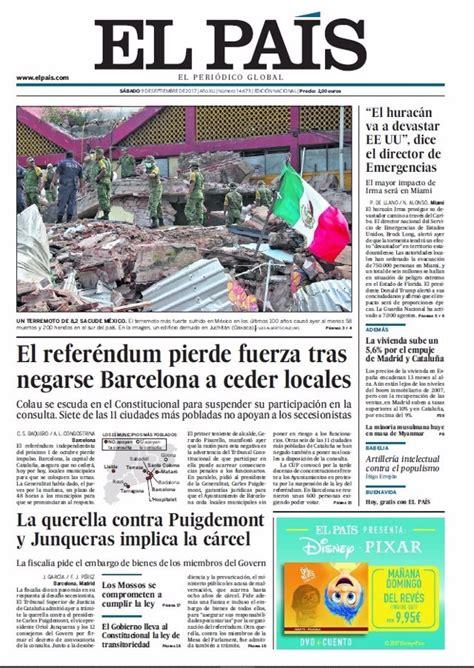 Las portadas de los periódicos de hoy, sábado 9 de ...