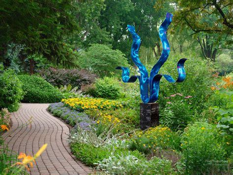Contemporary Metal Outdoor Garden Sculpture-reaching Out