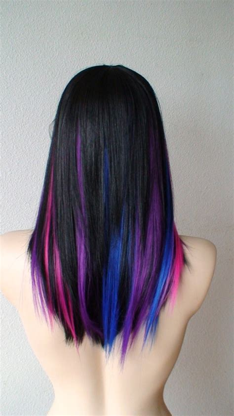 Purple Pink Blue Black Wish I Was Brave Enough To Get