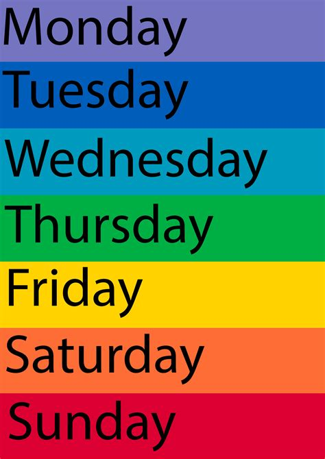images  printable days   week chart