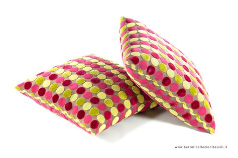 Cuscini Colorati Cuscini A Cerchi Colorati Bartoli Collezioni Tessili