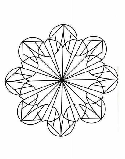 Mandala Mandalas Coloring Simple Easy Geometric Patterns