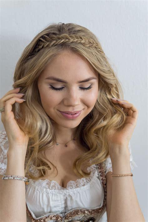 dirndl frisuren mit haarband dirndl frisuren f 252 r mittellange haare mit anleitung therubinrose