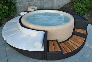 Chill Lounge Garten : jacuzzi umrandung selber gebaut ~ Michelbontemps.com Haus und Dekorationen