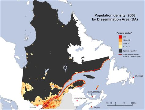 population density quebec