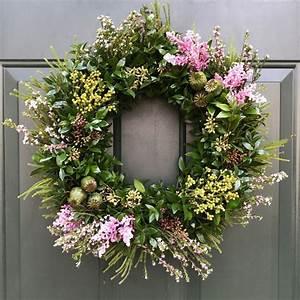 U0026quot, Organic, U0026quot, Fresh, Green, And, Fresh, Flowers, Spring, Door, Wreath