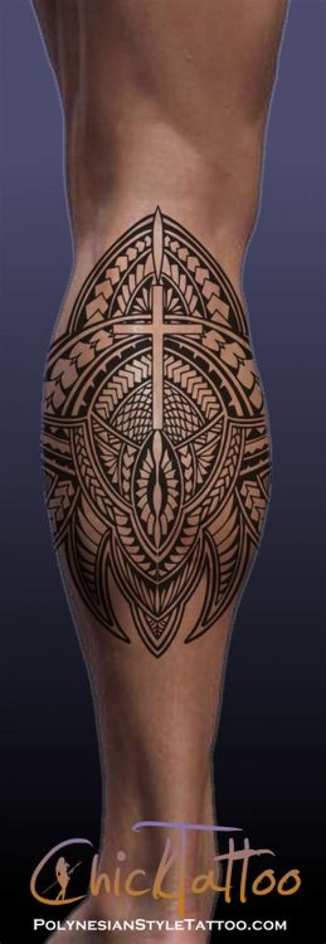 photo de tatouage polynesien mollet tatoo tatouage