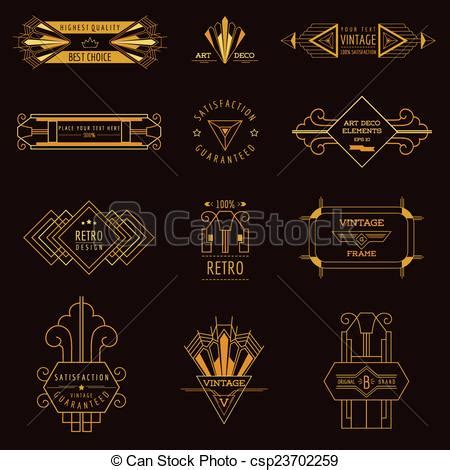 clipart vector of deco vintage frames and design elements in vector csp23702259 search