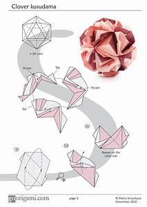 Clover Kusudama By Maria Sinayskaya  U2014 Diagram