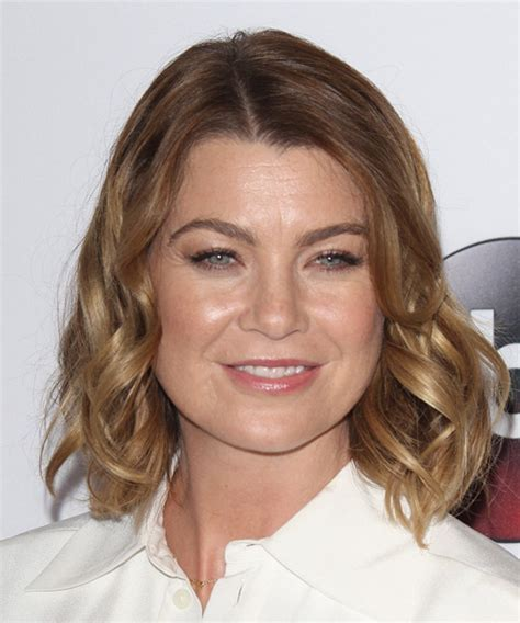 Ellen Pompeo Medium Wavy Casual Hairstyle   Light Brunette