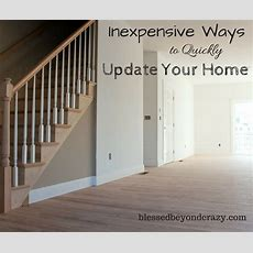 Inexpensive Ways To Quickly Update Your Home