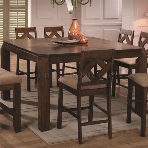 modern counter height table walnut finish modern counter height dining table w options
