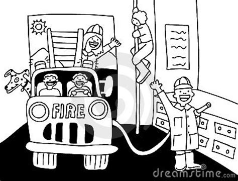 black  white fire house clipart   cliparts