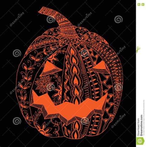 Check out inspiring examples of zentangle artwork on deviantart, and get inspired by our community of talented artists. Halloween Zentangle Pumpkin Stock Vector - Image: 77929882