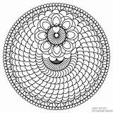 Coloring Spiral Printable Mandala sketch template