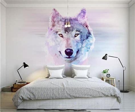 wallpaper photo custom size mural clever animal wolf