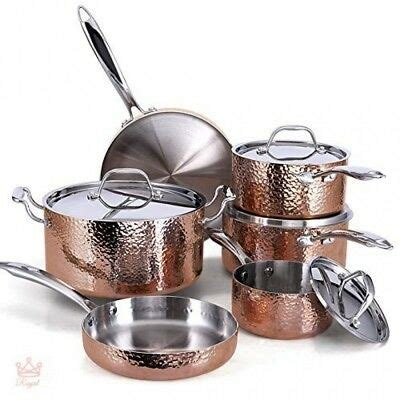 copper nonstick cookware set ceramic chef stainless steel