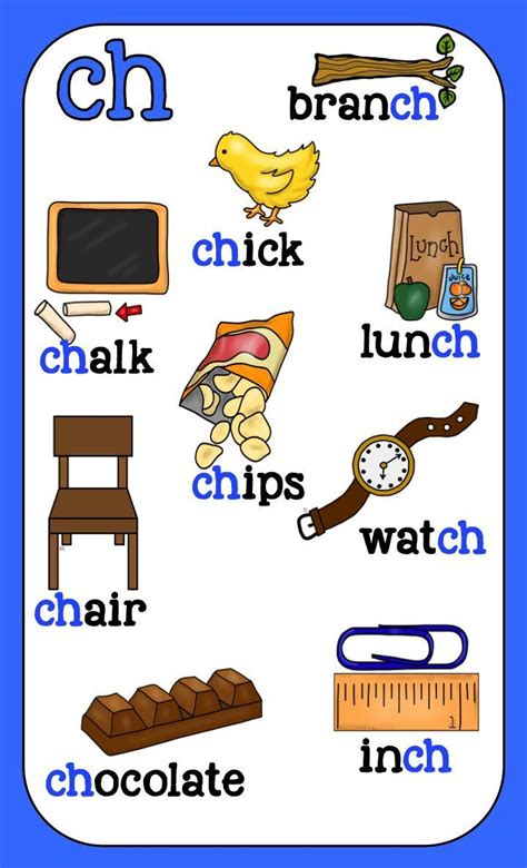 digraph posters  images english phonics teaching