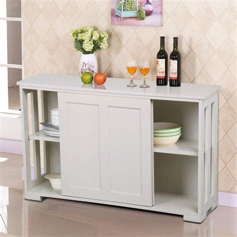 Kitchen Buffet Height by Yaheetech Antique White Stackable Sideboard Buffet Storage