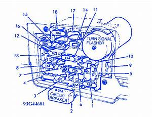 Ford Tempo 1993 Fuse Box  Block Circuit Breaker Diagram
