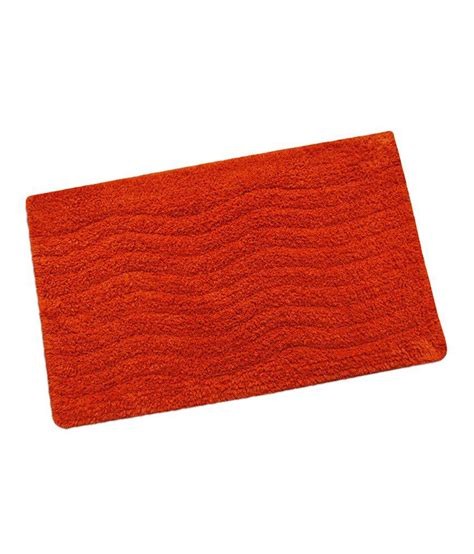 Home By Freedom Orange Cotton Bath Mat Buy Home By