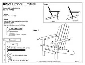 Trex Adirondack Chairs Plans trex 174 txa53 cape cod folding adirondack chair polywood