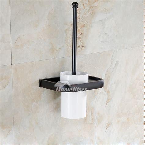 antique wall mounted toilet brush holder ceramic brass
