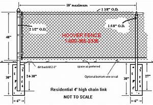 Chain Link Fence Dimensions