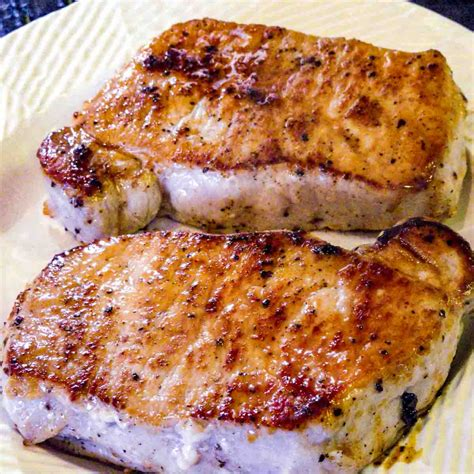 Boneless pork loin end chops derive from the blade roast, or the part of the pork loin nearest to the shoulder. Pan Seared Oven Roasted Pork Chops | 101 Cooking For Two
