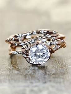 Unique engagement ring set wwwpixsharkcom images for Personalized wedding rings