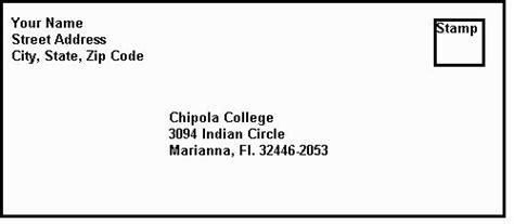 chipola college internation students mail