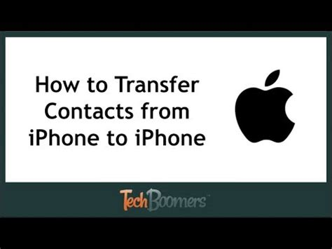 how to transfer contacts from iphone how to transfer contacts from iphone to iphone