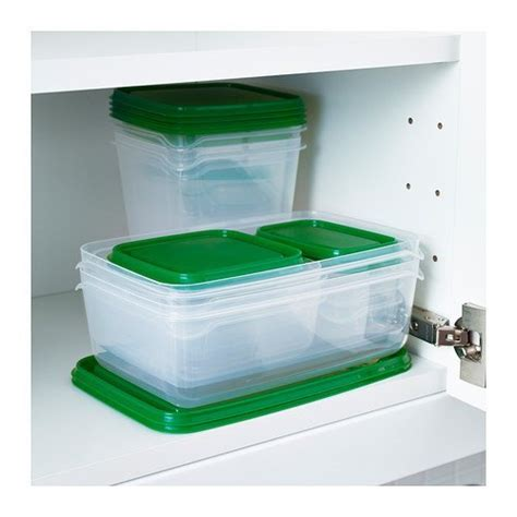 ikea kitchen storage containers pruta food container set of 17 green kitchen storage 4568