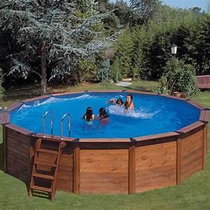 Piscine En Kit Enterrée : piscine habillage bois en kit ronde natur pool x 120 m piscines abris pool ~ Melissatoandfro.com Idées de Décoration