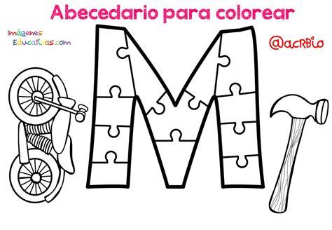 Abecedario para colorear (13) Imagenes Educativas