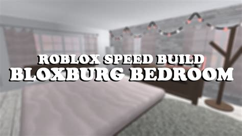roblox speed build  bloxburg bedroom remake youtube