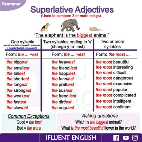Superlative Adjectives In English